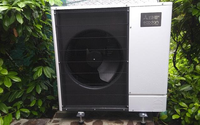 Pompa di calore per riscaldamento della casa