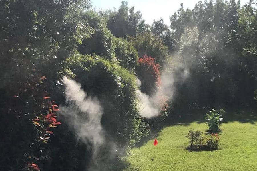 Impianto antizanzare a nebulizzazione per strutture ricettive