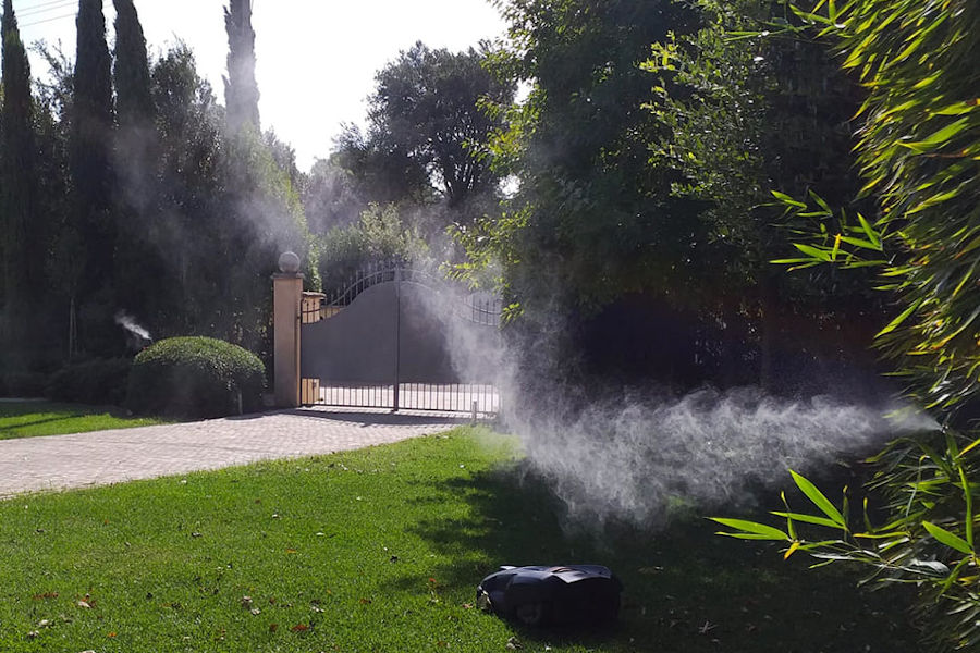 Impianto antizanzare in giardino privato (Firenze, 2020)