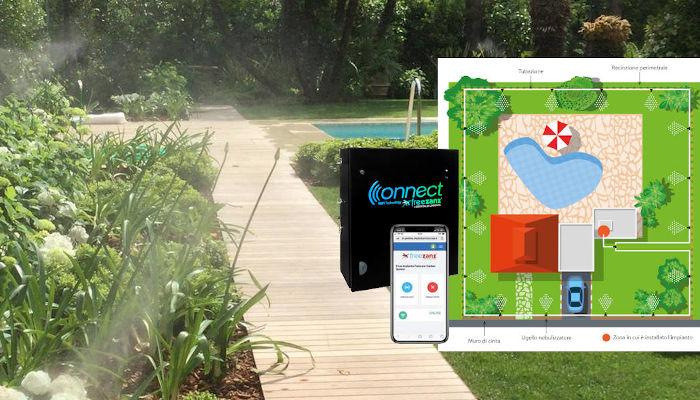 Realizzazione impianti antizanzare per piscine e giardini a Firenze e provincia.